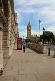 LONDON, UK - JULY 15, 2013:Big Ben and phone booths in London Royalty Free Stock Photography
