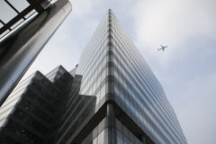 LONDON, UK - JULY 3, 2014: Modern glass architecture of Canary W Stock Images