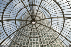 LONDON, UK - JULY 3, 2014: Modern glass architecture of Canary W Royalty Free Stock Photos
