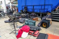 London, UK - July 17, 2017:  Music equipment backstage. Stock Images
