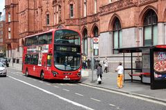 London bus stop Stock Images