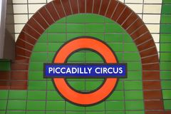 Piccadilly Circus, London Royalty Free Stock Photo