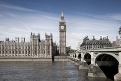 LONDON, UK - JUNE 24, 2014 - Big Ben and Houses of Parliament Stock Photography