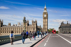 LONDON, UK - JUNE 24, 2014 - Big Ben and Houses of Parliament Royalty Free Stock Photo