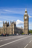 LONDON, UK - JUNE 24, 2014 - Big Ben and Houses of Parliament Stock Photo