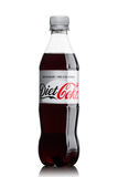 LONDON, UK - JUNE 9, 2017: Bottle of Diet Coke soft drink on white.The Coca-Cola Company, an American multinational beverage corpo Stock Image
