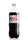 LONDON, UK - JUNE 9, 2017: Bottle of Diet Coke soft drink on white.The Coca-Cola Company, an American multinational beverage corpo Royalty Free Stock Photos