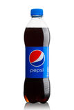 LONDON, UK - JUNE 9, 2017: Bottle of Pepsi Cola soft drink on white.American multinational food and beverage company. LONDON, UK - JUNE 9, 2017: Bottle of Pepsi royalty free stock photography