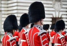 LONDON, UK - JUNE 12, 2014: British Royal guards Stock Photo