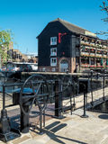 LONDON, UK - JUNE 14 : The Dickens Inn at St Katherines dock in Stock Photography
