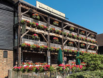 LONDON, UK - JUNE 14 : The Dickens Inn at St Katherines dock in Royalty Free Stock Photography