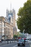 Houses of Parliament street view. London, UK. London, UK - June 27, 2017:  Houses  Parliament and Parliament tower street view. London, UK Stock Photos