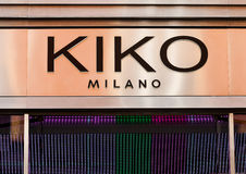 LONDON, UK - JUNE 02, 2017: A KIKO outlet display in London. Founded in 1997 by Antonio Percassi, KIKO Milano is an Italian brand Royalty Free Stock Images