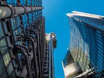 LONDON, UK - JUNE 14 : Lloyds of London building on a sunny day Royalty Free Stock Images