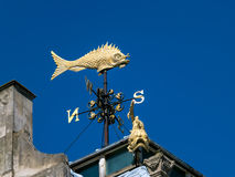 LONDON, UK - JUNE 14 : London's Flyin' Fish weather vane in Lond. On on June 14, 2013 stock images