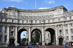 London, UK: JUNE 27, 2015: Majestic Admiralty Arch (between The Mall and Trafalgar Square) was designed by Sir Aston Webb Stock Image