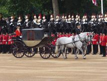 A Royal carriage at Trooping the Colour, London royalty free stock photography