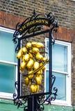 Nicholson`s Hoop & Grapes pub, London stock images