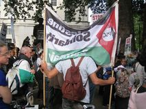 London UK - 05 June, 2018: People at Free Palestine – Stop the Royalty Free Stock Photos