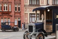 Old timer cars on a street London UK Royalty Free Stock Image