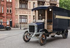 Old timer cars on a street London UK Stock Images