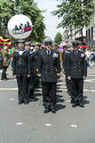 LONDON, UK - JUNE 29: Royal navy regiment marching in support of Royalty Free Stock Photo