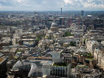 LONDON/UK - JUNE 15 : Skyline View of London towards St Paul's C. Athedral on June 15, 2016 Stock Photography