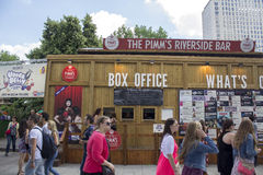 LONDON, UK - JUNE 21 2014: The Southbank Centre, Box Office Royalty Free Stock Image