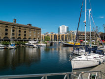 LONDON, UK - JUNE 14 : St Katherine's Dock in London on June 14, Royalty Free Stock Photo