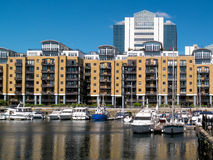 LONDON, UK - JUNE 14 : St Katherines dock in London on June 14, Stock Photography