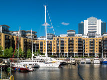 LONDON, UK - JUNE 14 : St Katherines dock in London on June 14, Stock Photos