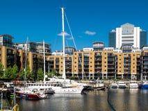 LONDON, UK - JUNE 14 : St Katherines dock in London on June 14, Stock Photos