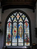 LONDON/UK - JUNE 15 : Stained Glass Window in St Olave's Church Stock Image