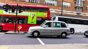 Taxi on Oxford street . London royalty free stock image