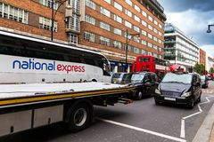 Taxi on Oxford street . London royalty free stock photography