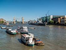 LONDON, UK - JUNE 14 : View down the River Thames in London on J Stock Images