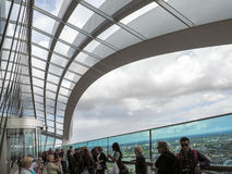 LONDON/UK - JUNE 15 : View of the Sky Garden in London on June 1. 5, 2016.Unidentified people Royalty Free Stock Photography