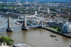 LONDON/UK - JUNE 15 : View of Tower Bridge and City Hall in Lond Stock Photography