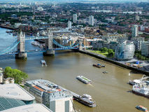 LONDON/UK - JUNE 15 : View of Tower Bridge and City Hall in Lond Stock Image