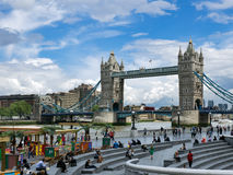 LONDON/UK - JUNE 15 : View of Tower Bridge in London on June 15,. 2016. Unidentified people Stock Photos