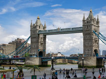 LONDON/UK - JUNE 15 : View of Tower Bridge in London on June 15,. 2016. Unidentified people Royalty Free Stock Photos