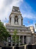 LONDON/UK - 15. JUNI: Ehemaliger Hafen von London-Berechtigung 1 errichtend Lizenzfreies Stockbild