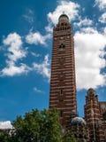 LONDON UK - JUNI 14: En sikt av den Westminster domkyrkan i London Fotografering för Bildbyråer