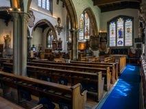 LONDON/UK - JUNI 15: Inre av kyrkligt sjuda LAN för St Olaves Royaltyfria Bilder
