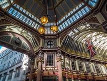 LONDON UK - JUNI 14: Leadenhall marknad i London på Juni 14, 2 Royaltyfria Bilder