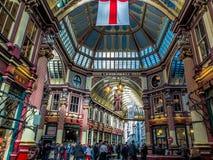 LONDON UK - JUNI 14: Leadenhall marknad i London på Juni 14, 2 Fotografering för Bildbyråer