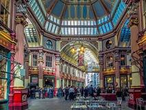 LONDON UK - JUNI 14: Leadenhall marknad i London på Juni 14, 2 Royaltyfri Fotografi