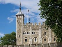 LONDON/UK - JUNI 15: Sikt av tornet av London på Juni 15, 20 Arkivbilder