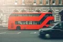 London, UK. London bus and taxi Royalty Free Stock Photos