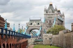 London UK. London, UK - Tower of London and Tower Bridge Stock Images